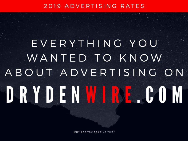 2019 Advertising Rates For DrydenWire.com