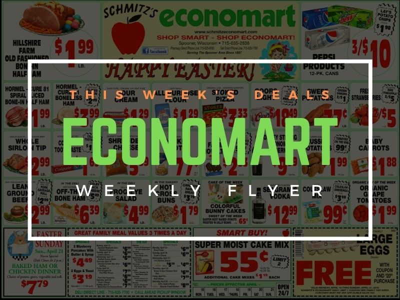 'Happy Easter' - This Week's Great Deals From Schimtz's Economart!