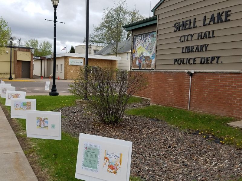 Extension Washburn County Debuts StoryWalk Project At Shell Lake Public Library