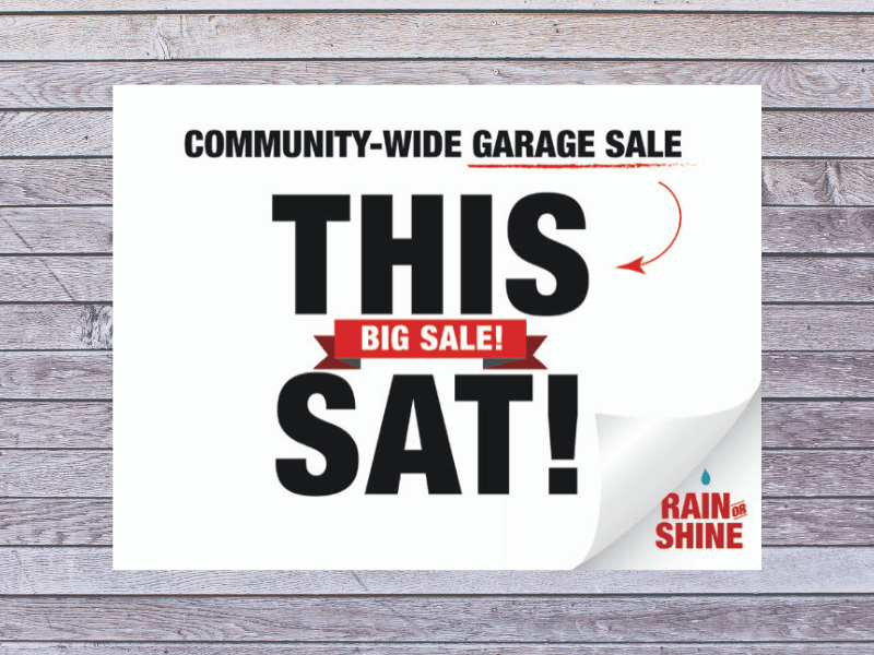 Community-Wide Garage Sale This Saturday At Shell Lake Full