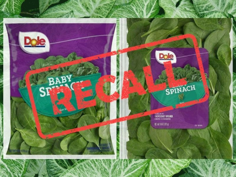 Dole Fresh Vegetables Announces Recall Of Baby Spinach