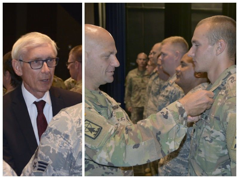 Wisconsin Leaders Recognize Guardsmen As Storm Recovery Mission Concludes