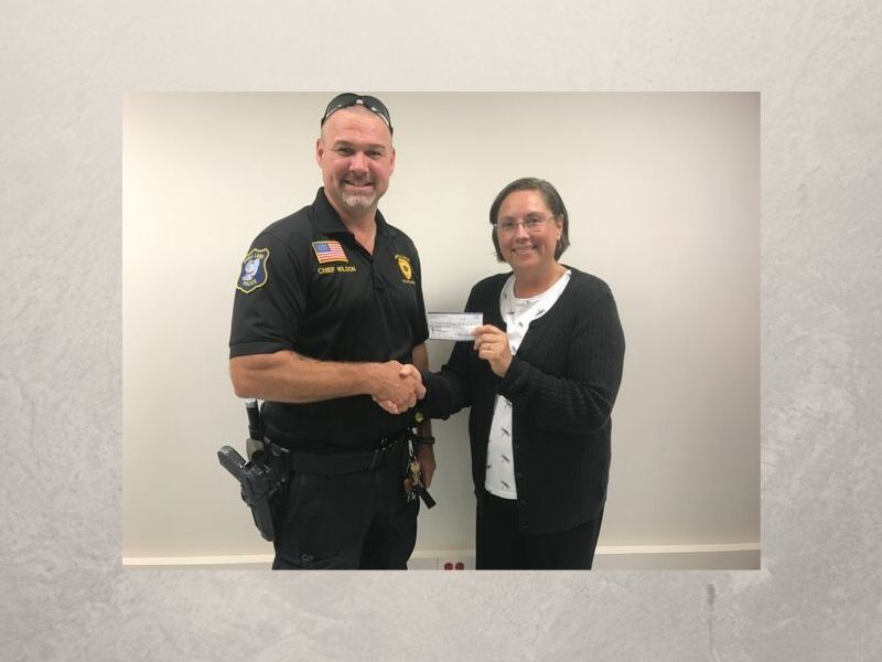 Shell Lake Police Foundation Donates $500 Towards Washburn County Incident Command Post