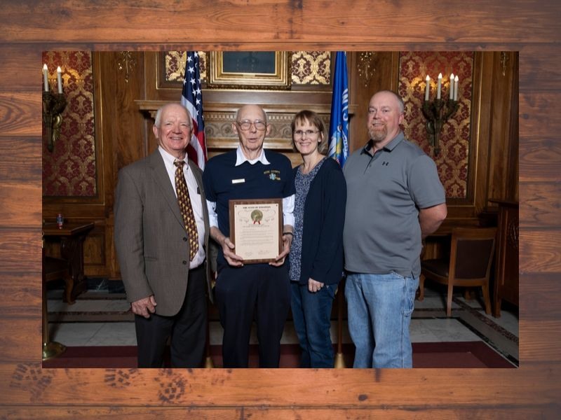Rep. Edming Honors Marty Huhn As First Responder Of The Year