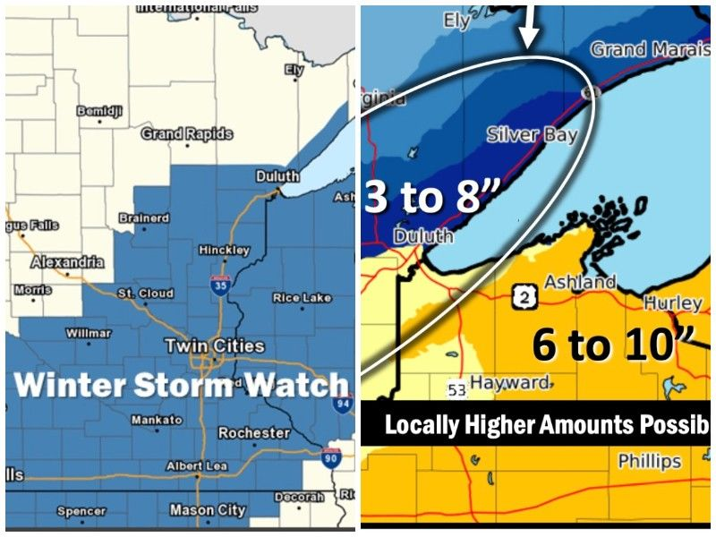 Winter Storm Watch Tuesday Night Into Wednesday