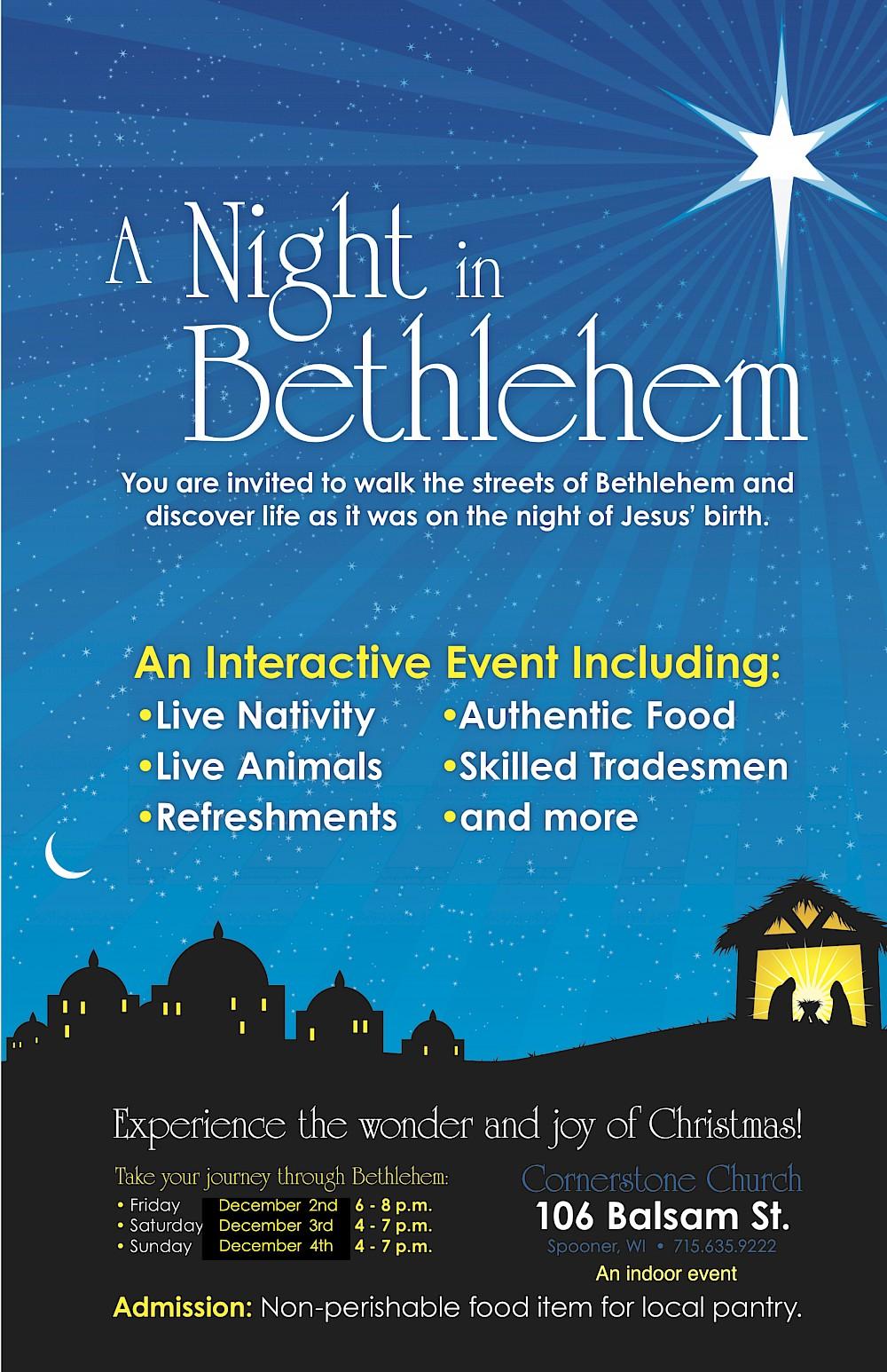 Cornerstone Church Spooner Wi Christmas Walk 2020 Cornerstone Church Hosting 'A Night in Bethlehem'   Recent News