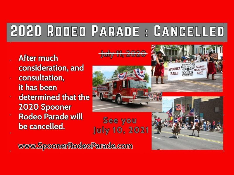 Spooner Parade Committee Addresses Cancelation