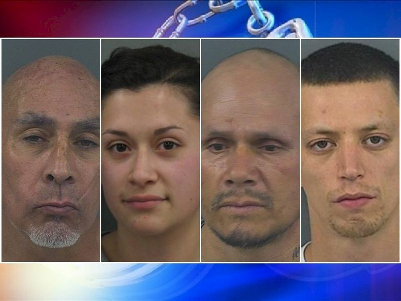 Charges Filed Against 4 Following Drug Investigation; 40 Grams Of Heroin Seized
