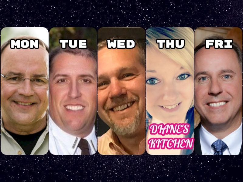 Watch All Of This Week's Guests On DrydenWire Live! And Diane's Kitchen