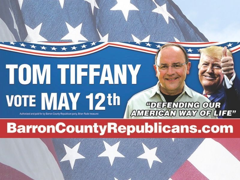 Vote On May 12th For Tom Tiffany