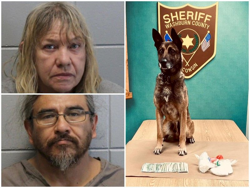 Two Arrested After Traffic Stop In Washburn Co. Leads To Discovery Of Large Amount Of Meth, Cash
