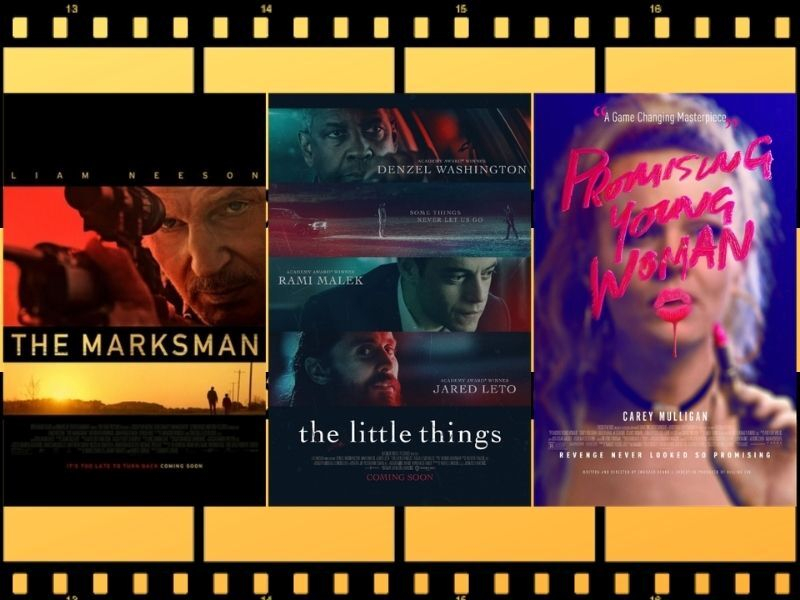 Movie Review Triple Feature: Promising Young Woman; The Little Things; and The Marksman