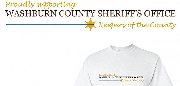 Get Your T-Shirt ($10) and Support the Washburn County Sheriff's Crime Prevention Fund