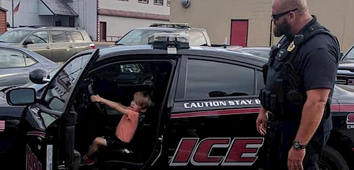 Spooner Police Officers Spend Quality Time with Special Boy