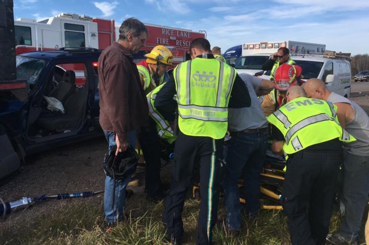 Sedan vs Dump Truck Closes US 53 Near Haugen, WI | Recent News