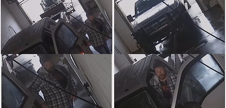 Clear Lake Police Dept. Asking for Public's Help Identifying this Vehicle & Subject