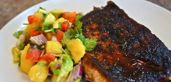 Blackened Sword Fish w/ Mango Salsa on Special This Week at The Roost!
