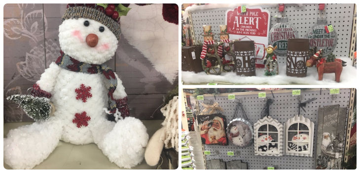 Receive a Plush Snowman with any $25 Christmas Decor Purchase at Hardware Hank!