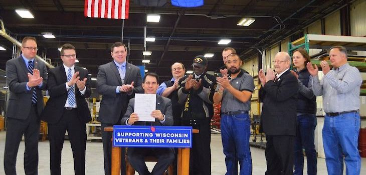 Walker Signs Three Bills Supporting Veterans into Law