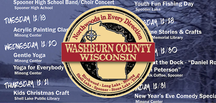 Events & Activities in Washburn County from 12/18 to 12/31