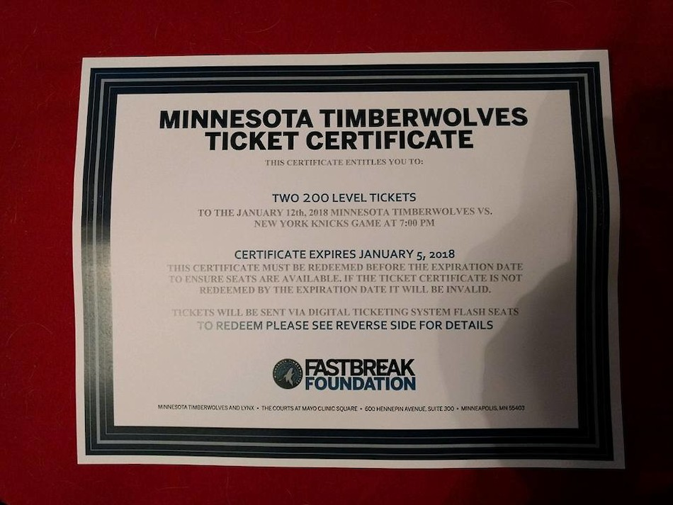 Shell Lake Police Foundation: 'Who Wants to Win Timberwolves Tickets