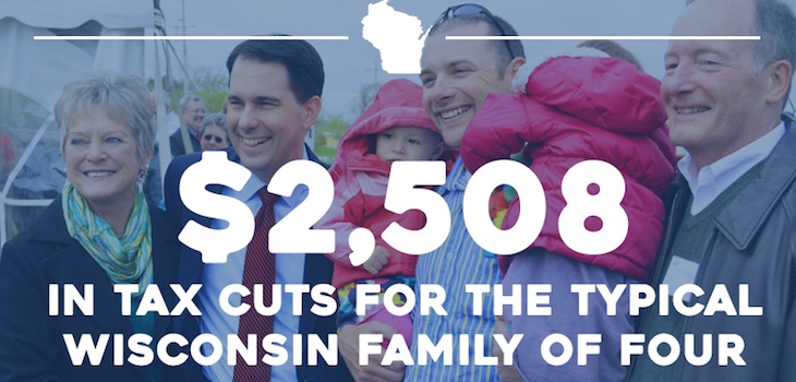 Gov. Walker Says Tax Change Will Bring $2,508 Cut For Typical Family