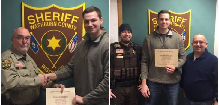 Pete Erickson Completes Training; to Become Full-Time Deputy Sheriff in 2018