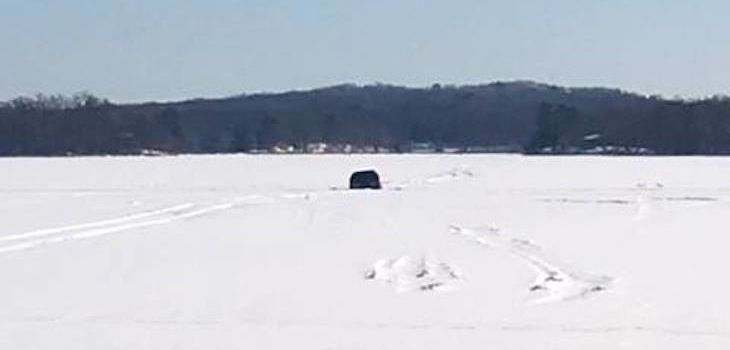 Pickup Falls Through Ice on Spooner Lake