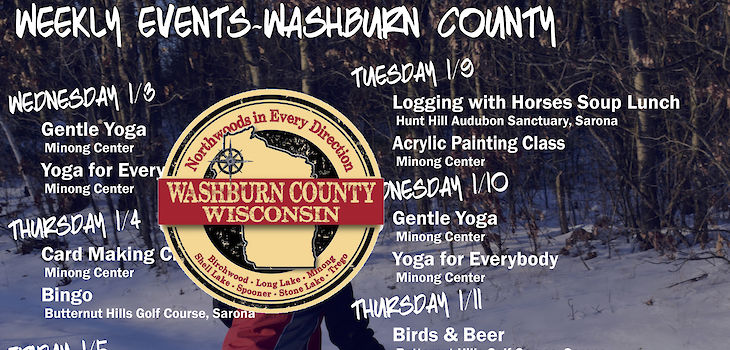 Events in Washburn County from 1/3 to 1/13