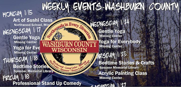 Events in Washburn County from 1/15 to 1/28