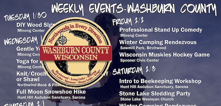 Events in Washburn County from 1/29 to 2/4