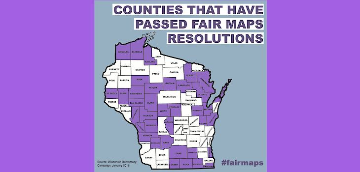 Fair Elections Project: More Than Half of Wisconsin Counties Call for Fair Maps