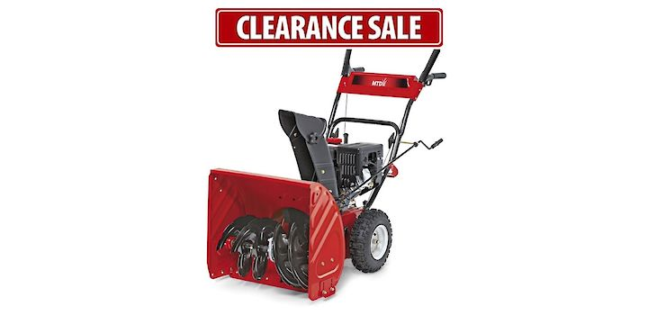 Northwoods Hardware Hank is Having a Clearance Sale on All Snowblowers