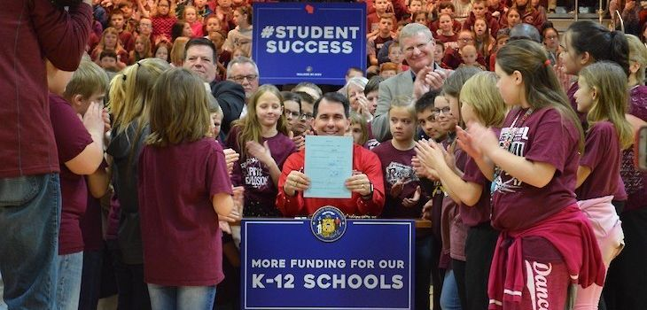 Governor Walker Signs Bill Directing Additional State Funding to Rural Public Schools