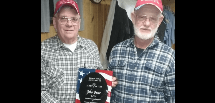 John Oscar Named 2017 AmVet of the Year - Post 190 Spooner