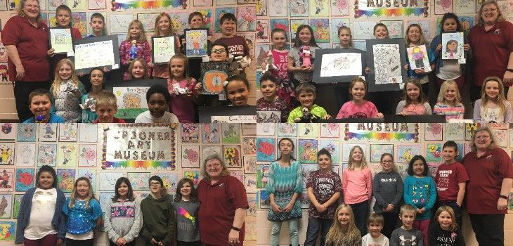 Spooner Elementary Students Have Art Showcased