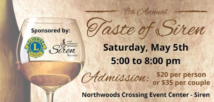 9th Annual Taste of Siren to be Held at Northwoods Crossing Event Center