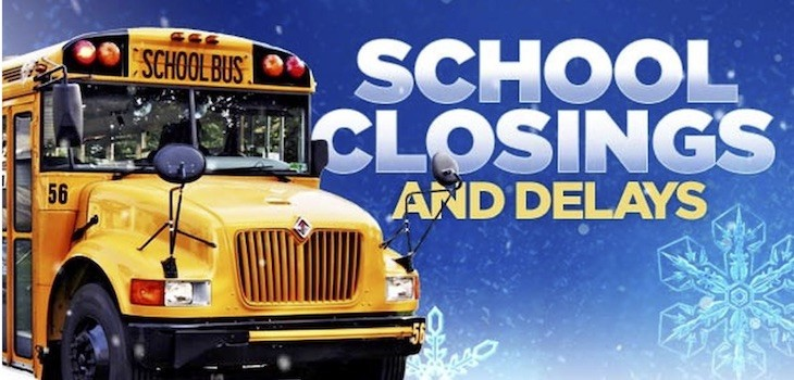 School Closings & Delays - Monday, April 16, 2018