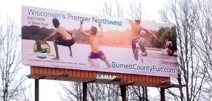 I-35 Billboard Touts Burnett County Fun