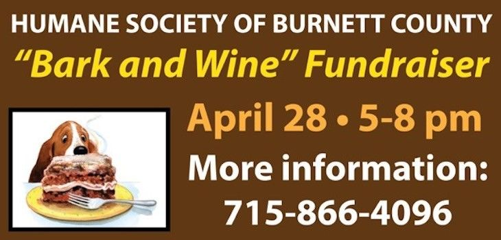 Humane Society of Burnett County to host 11th Annual 'Bark and Wine' Fundraiser!