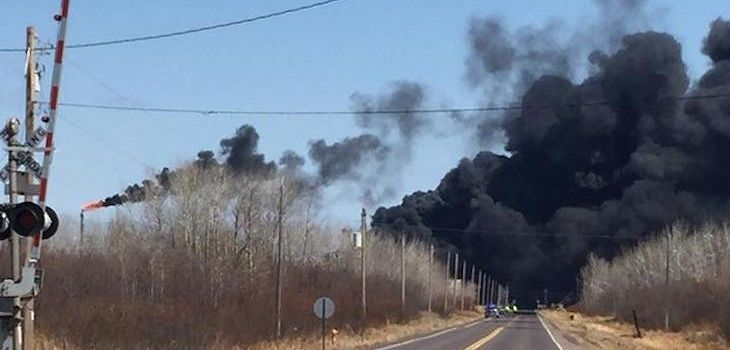 Asphalt Spill Blamed for Superior Refinery Explosion, Fire