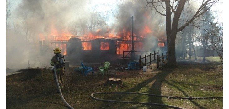 Webster Fire Chief: Burnett County House Fire Total Loss
