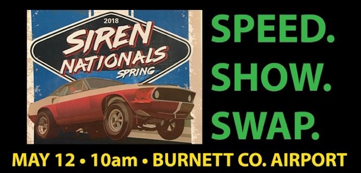 Speed. Show. Swap. at Siren Nationals this Weekend!