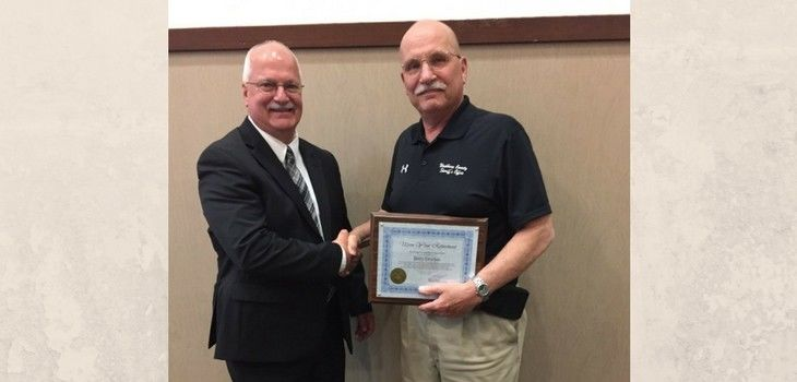 Sheriff Dryden Recognized for 20 Years on TIME Advisory Committee