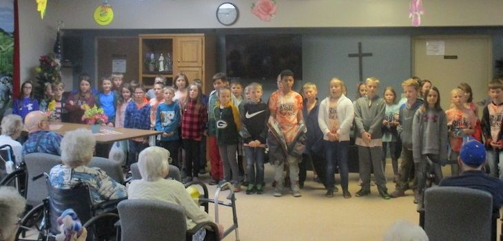 Third Grade Students Visit Maple Ridge Care Center