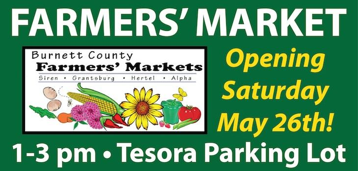 Burnett County Farmers' Market Begins 14th Season in Siren!