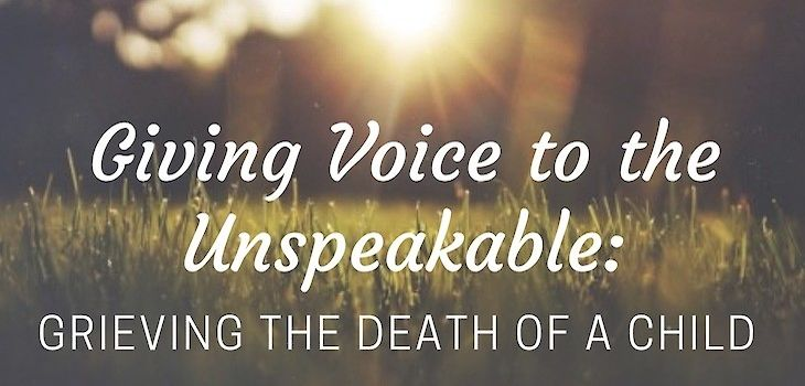 'Giving Voice to the Unspeakable: Grieving the Death of a Child' Coming to Spooner Health