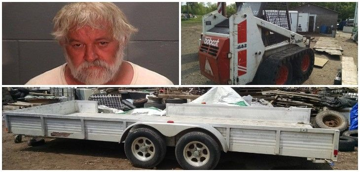 Search Warrant Results in Discovery of Stolen Bobcat, Tailer