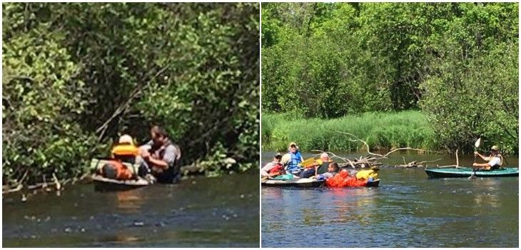 Team Effort Rescues Man After Kayak Capsizes