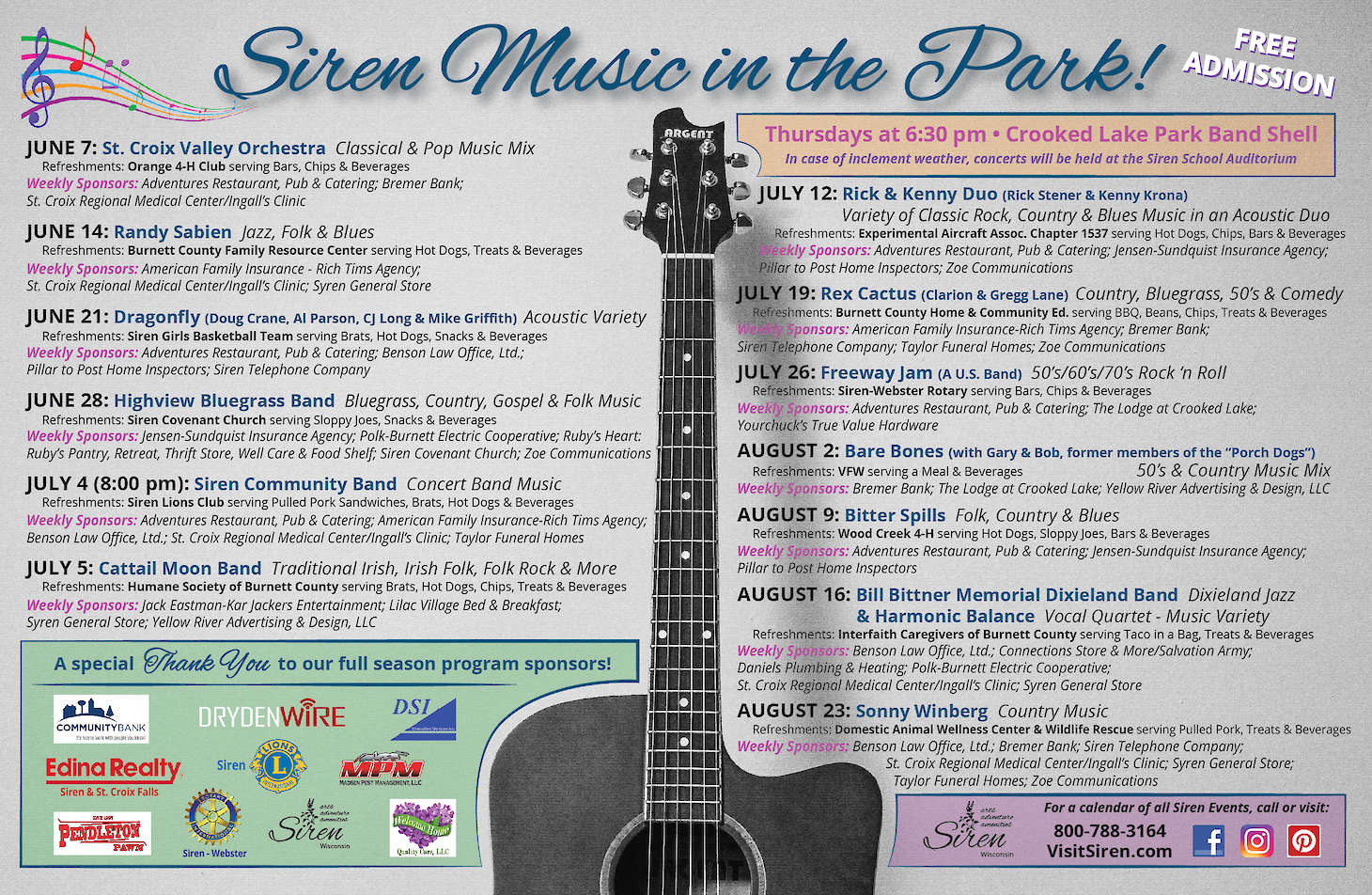 Siren Kicks Off Their 10th Season of Music in the Park